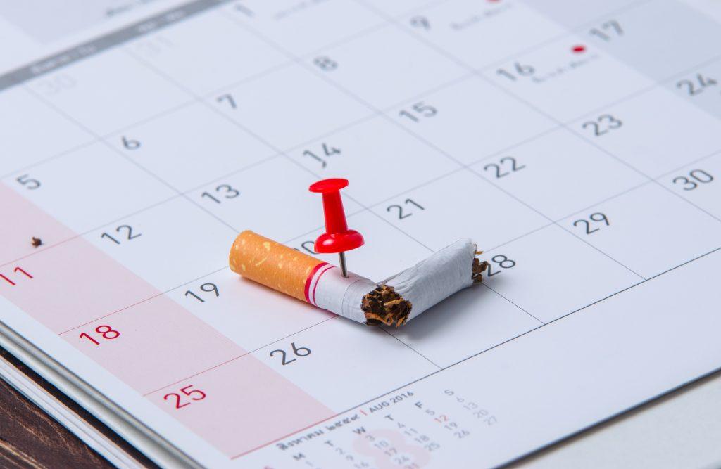 stoppen met roken datum