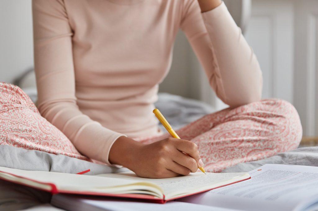 zorgen op papier schrijven