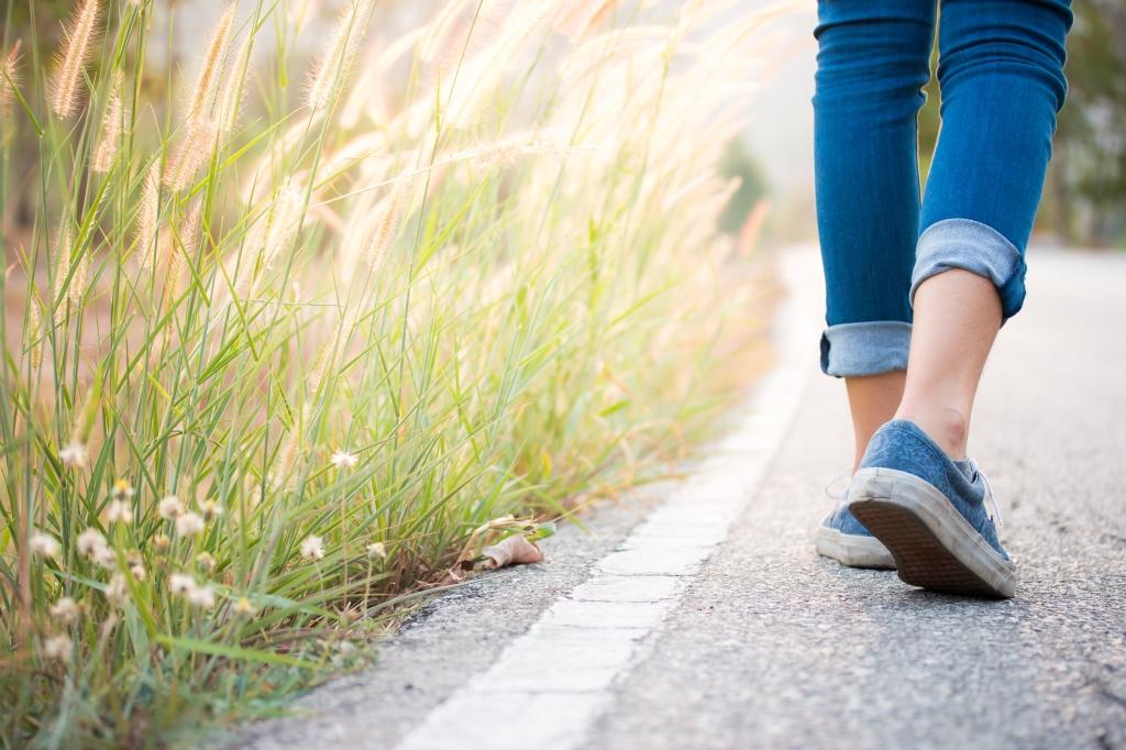 alleen wandelen
