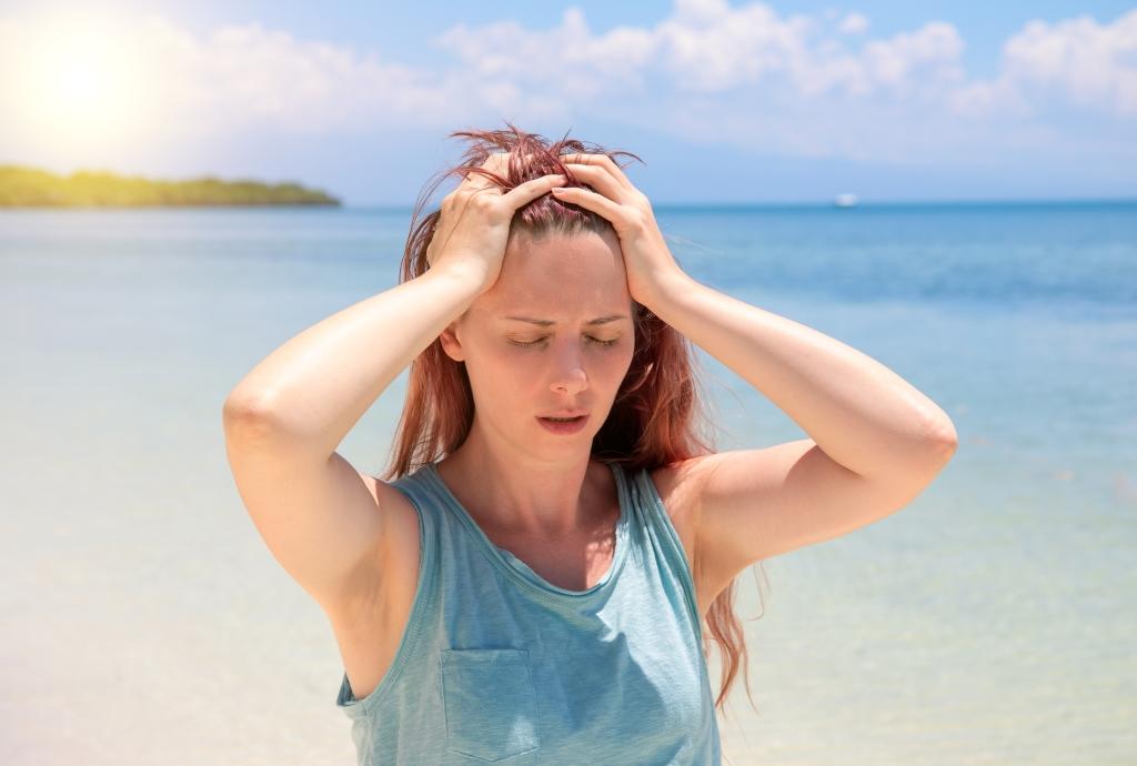 hoofdpijn door zon
